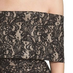Vince Camuto Dresses - VINCE CAMUTO Sequin Off the Shoulder Evening Gown